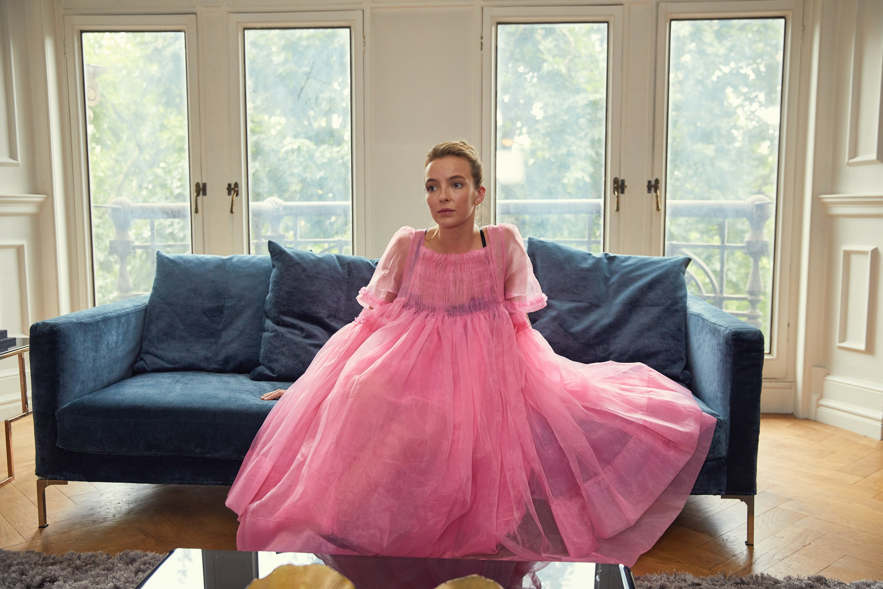 Villanelle-Pink-Dress-Killing-Eve