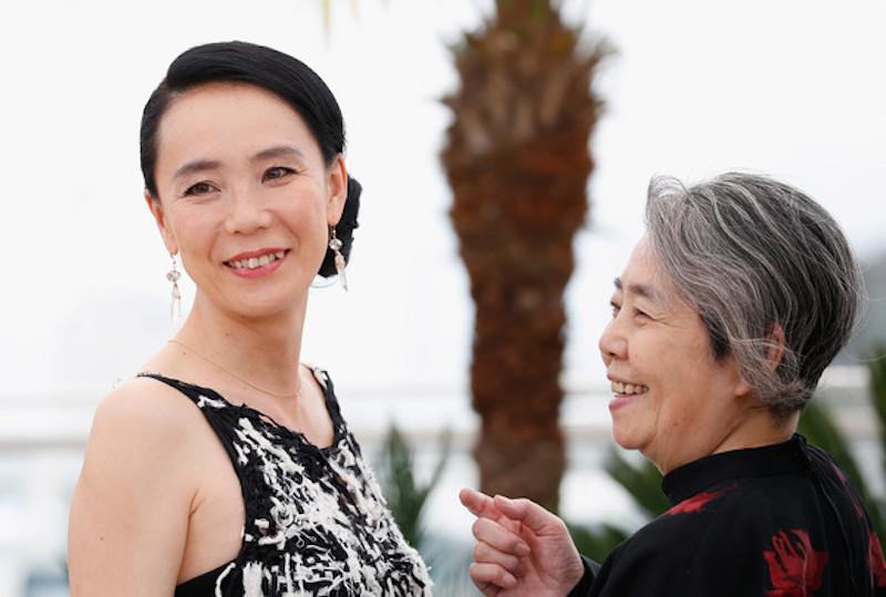 Naomi-Kawase-and-Kirin-Kiki-68th-Cannes